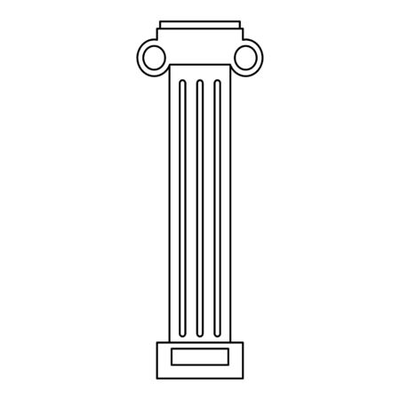 Greek column architect building vector illustration graphic design Stock Vector - 133586851