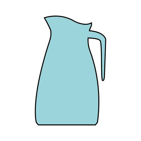 pitcher icon over white background, vector illustration Çizim
