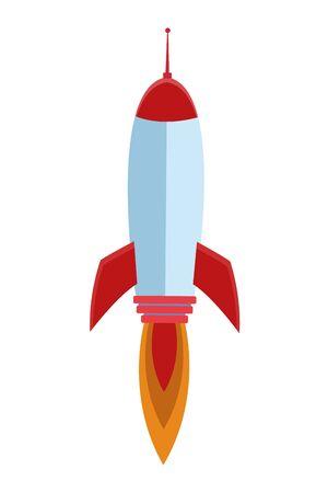 rocket taking off cartoon vector illustration graphic design Illusztráció