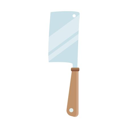 cleaver icon, over white background, vector illustration