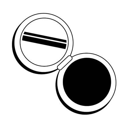 Make up powder with mirror cosmetic symbol vector illustration graphic design Standard-Bild - 133967451