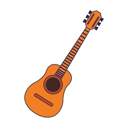 Acoustic guitar music instrument vector illustration graphic design