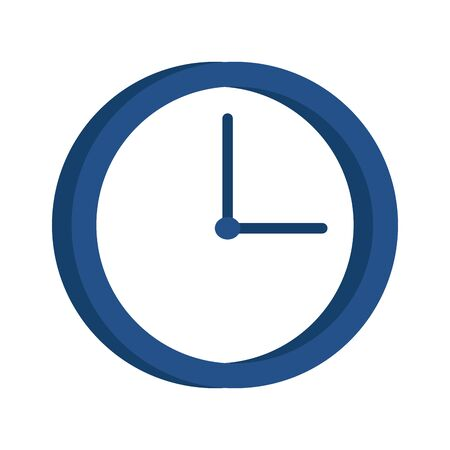 clock icon over white background, vector illustration