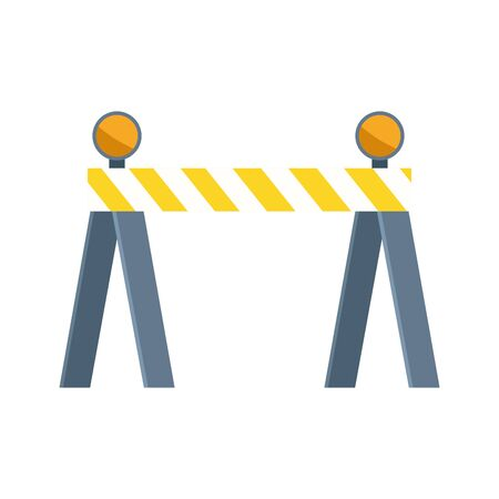 safety barrier icon over white background, vector illustration 向量圖像