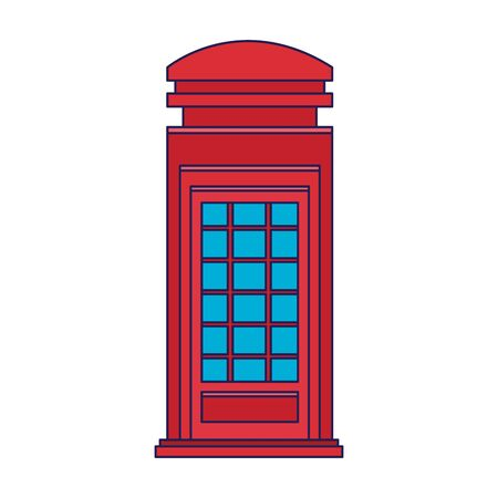 london telephone box icon over white background, vector illustration Vectores