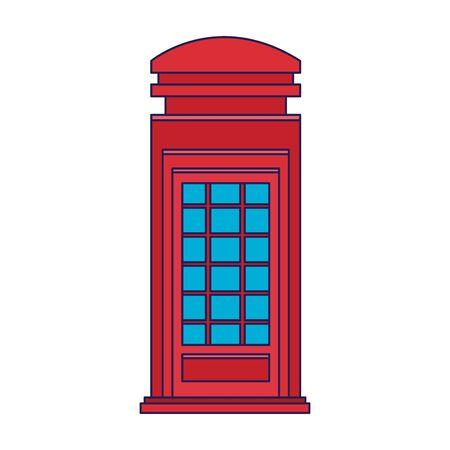 london telephone box icon over white background, vector illustration Stock Illustratie