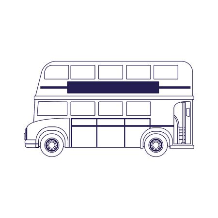 classic london bus icon over white background, vector illustration Çizim