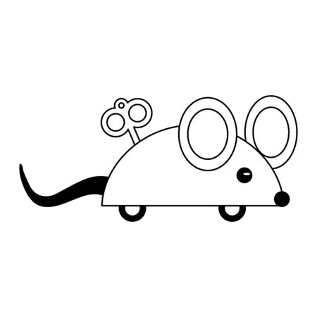 Joke rope mouse cartoon Designe