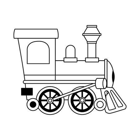 train icon over white background, vector illustration Stock Illustratie