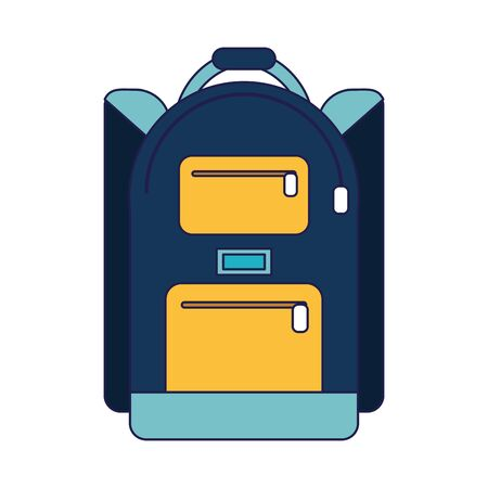 School backpack symbol isolated Designe