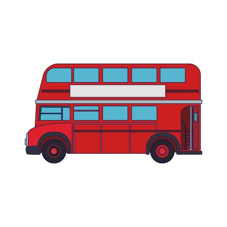 classic london bus icon over white background, vector illustration 일러스트
