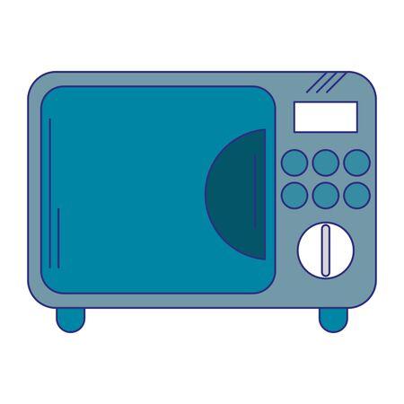 Microwave kitchen appliance symbol vector illustration graphic design Standard-Bild - 133634583