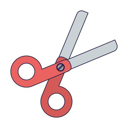 School scissors utensil isolated Designe