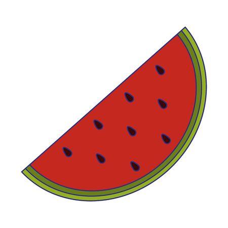Watermelon fruit fresh food isolated vector illustration graphic design Illusztráció