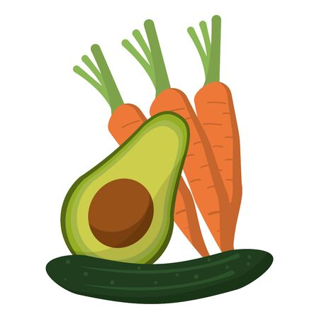 vegetables healthy and fresh food vector illustration graphic design Illusztráció