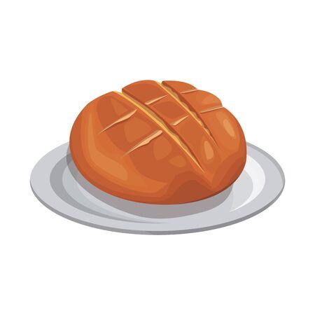 bread icon over white background, vector illustration