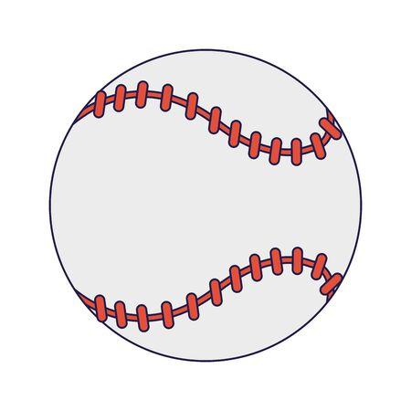 Baseball ball cartoon isolated Designe