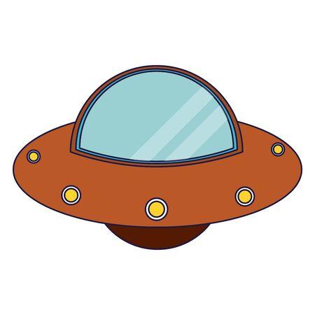 UFO alien spaceship cartoon vector illustration graphic design vector illustration graphic design