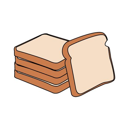 loaves icon over white background, vector illustration