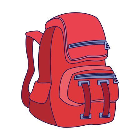 ikona plecaka na białym tle, ilustracji wektorowych Ilustracje wektorowe