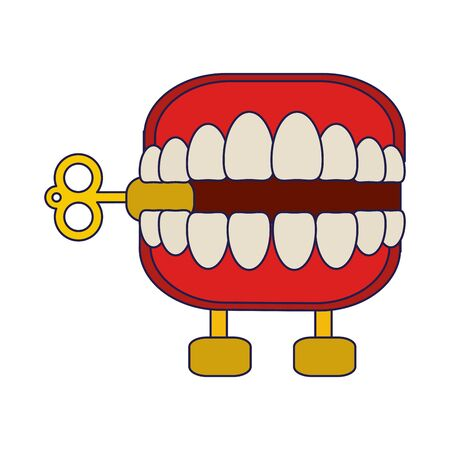 Joke teeth box cartoon isolated Designe