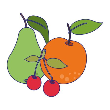fruits healthy and fresh food vector illustration graphic design
