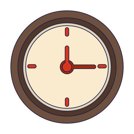 Wall clock isolated symbol Design 向量圖像