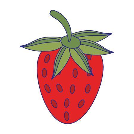 Strawberry fruit fresh food isolated vector illustration graphic design Illusztráció