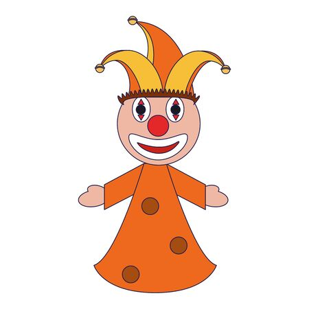 Clown pupet cartoon isolated Designe
