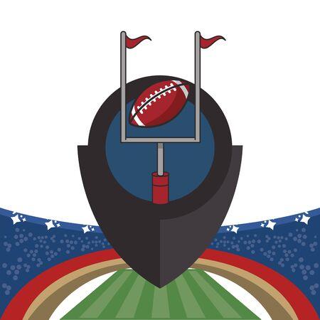 american football sport ball vector illustration design