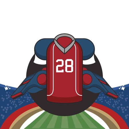 american football sport uniform shirt icon vector illustration design