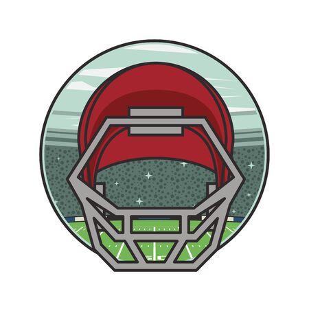 american football sport helmet icon vector illustration design Ilustração