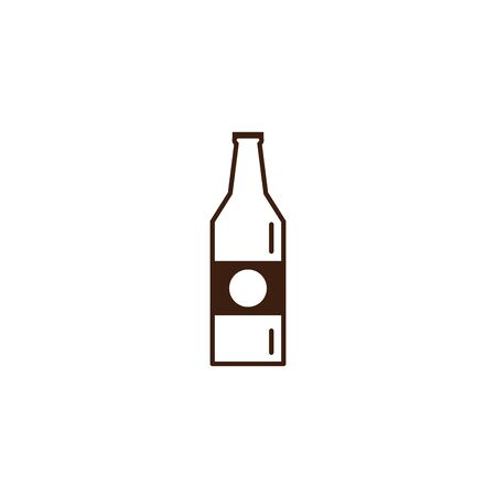 beer bottle oktoberfest celebration isolated icon vector illustration design Illustration