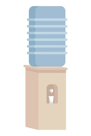 Office water dispenser cartoon isolated ,vector illustration graphic design.