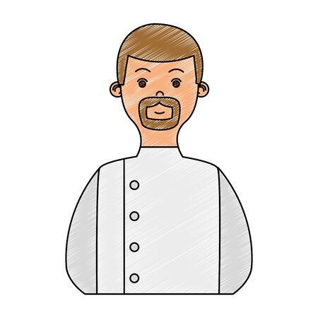 Male chef avatar vector illustration graphic design