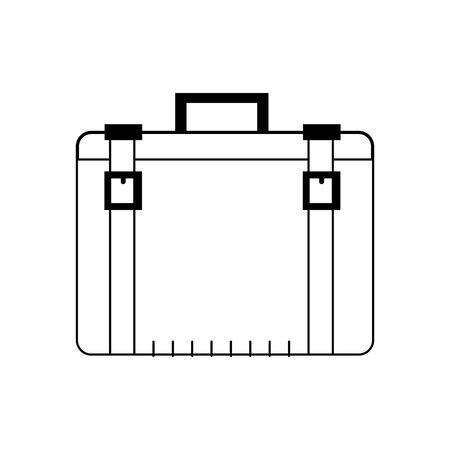 briefcase accessory icon over white background, vector illustration Ilustração
