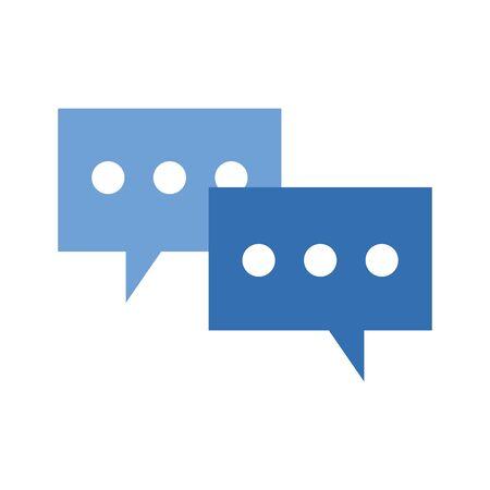 speech bubbles icon over white background, vector illustration