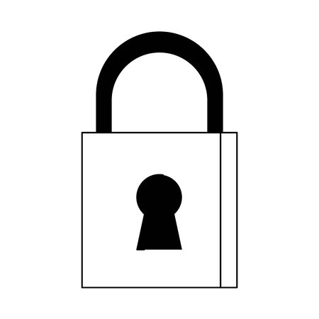 security padlock safety sign cartoon vector illustration graphic design Çizim