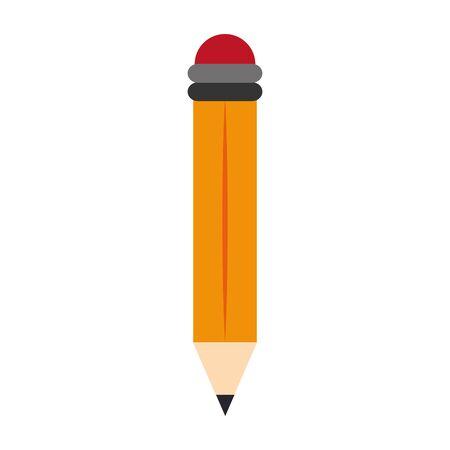 school utensil, pencil icon over white background, vector illustration