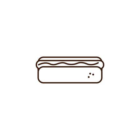 hot dog oktoberfest celebration isolated icon vector illustration design