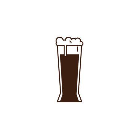 beer glass oktoberfest celebration isolated icon vector illustration design Reklamní fotografie - 133907518