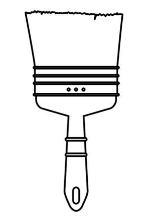 Paint brush construction tool symbol isolated cartoon vector illustration graphic design. Ilustrace