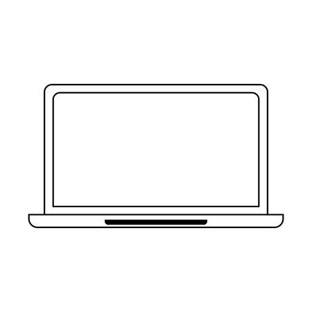 laptop computer icon over white background, vector illustration 일러스트