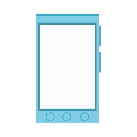 Smartphone device icon over white background, vector illustration Illusztráció