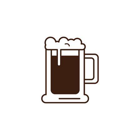 beer glass oktoberfest celebration isolated icon vector illustration design