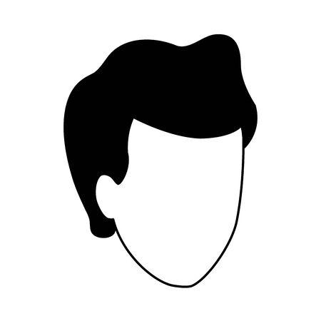 default man icon over white background, vector illustration Foto de archivo - 133907392