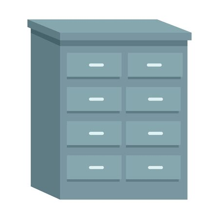 Office drawer furniture cartoon isolated ,vector illustration graphic design.