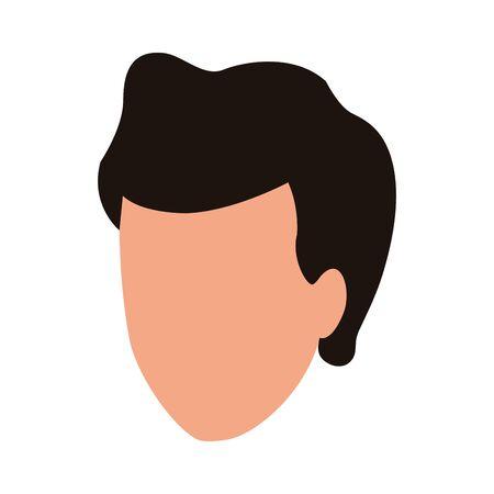 default man icon over white background, vector illustration