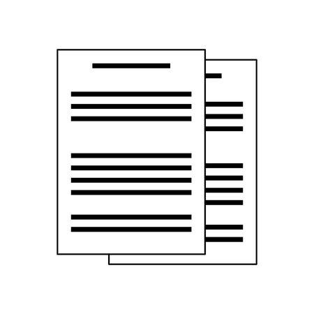 document pages icon over white background, vector illustration Ilustração