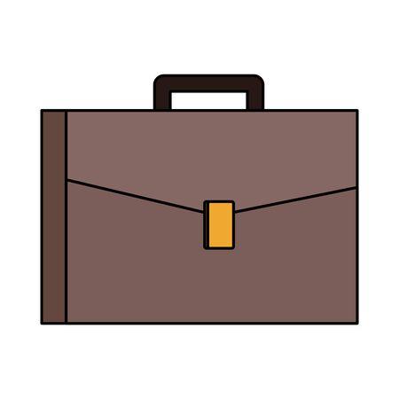 business portfolio icon over white background, colorful design. vector illustration